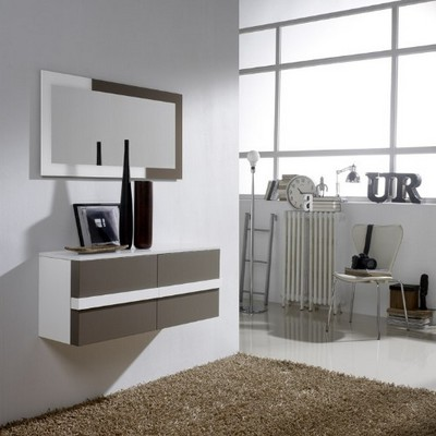 Gran variedad de mueble de entrada colgado a pared de for Mueble entrada moderno