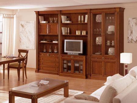 Muebles de estilo cl sico librerias a medida aparadores - Librerias salon ...